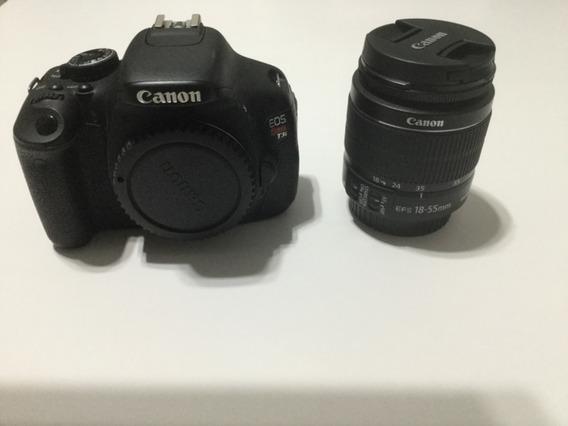 Câmera Canon T3i Com Lente 18 - 55mm, Impecável
