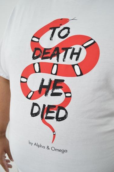 Remera Algodón Peinado Hombre Vencio A La Muerte - Por Mayor