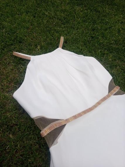 Vestido Blanco Marfil, Marfil Boutique T: S / M (hasta 42)