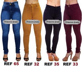 Kit 20 Calça Jeans Feminina Cós Alto Levanta Bumbum Atacado