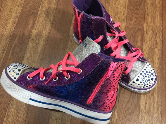 Zapatillas Botitas Con Luz Skechers - Importadas