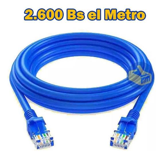 Cable Utp Cat5e Por Metro Azul Cca Internet Redes Precio 10m