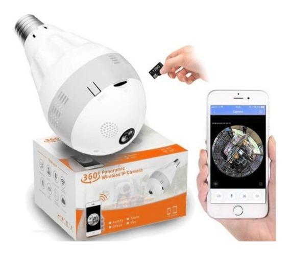 Câmera Lâmpada Wifi Espiã Infravermelho Visão Noturna Yoosee