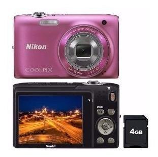 Câmera Digital Nikon Coolpix S3100 Gratis Cartão Sd 4gb