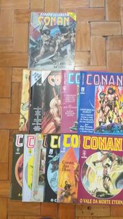 Hq Conan Serie De Luxo Em Cores Do N-1 Ao 13 Completa