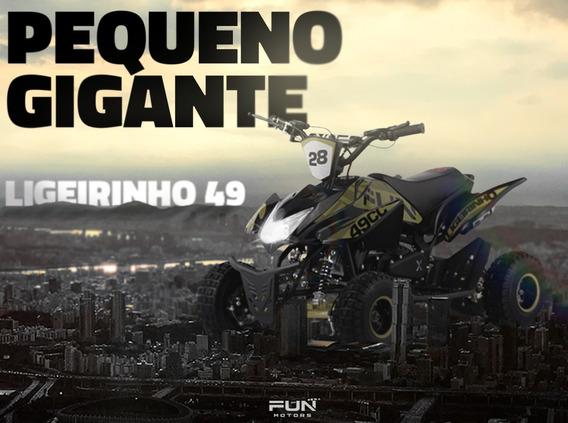 Mini Quadriciclo Infantil Ligeirinho 49cc Quadri E Cia