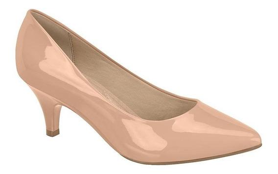 Sapato Scarpin Feminino Beira Rio Salto Baixo 4076150 Nude