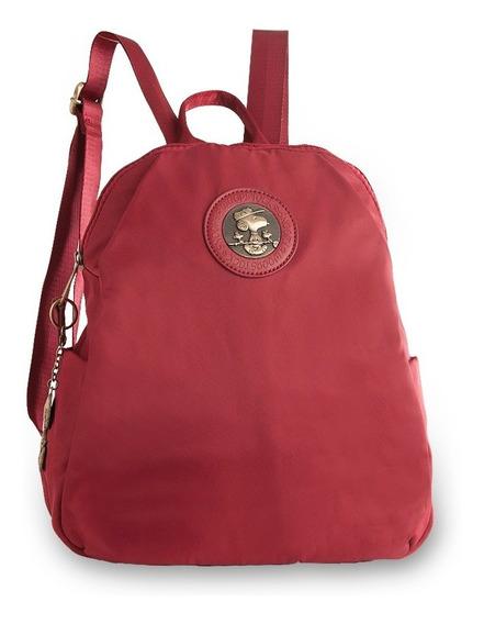Bolsa Tipo Mochila Be Fancy Snoopy Sp6802 Vermelha