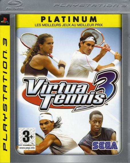 Jogo Virtua Tennis 3 Playstation 3 Ps3 Pronta Entrega Game
