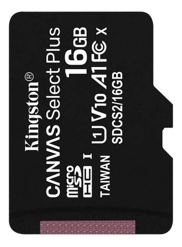 Cartão de memória Kingston SDCS2 Canvas Select Plus com adaptador SD 16GB