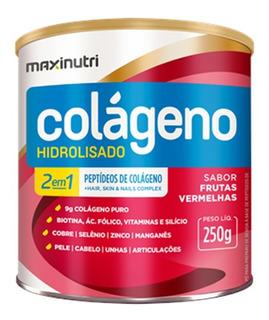 Colágeno Hidrolisado 2em1 250gr Frutas Vermelhas Maxinutri