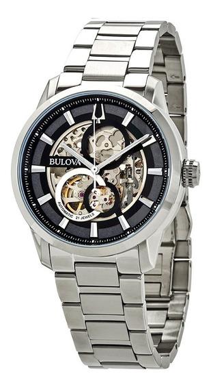 Relógio Bulova Masculino Sutton Automatic Skeleton Original