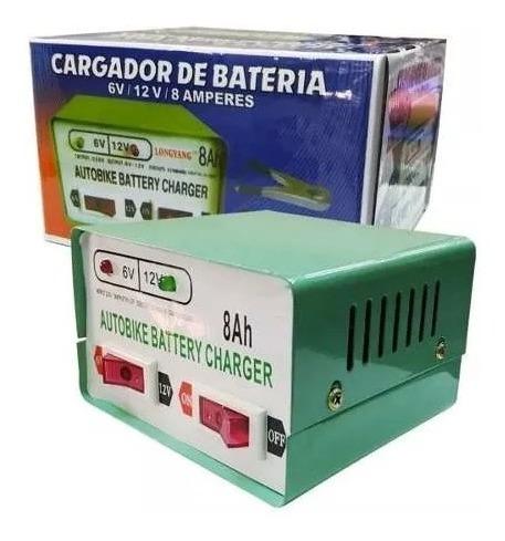 Cargador De Bateria Para Autos Y Motos 12v Y 6v/ Tecnopro