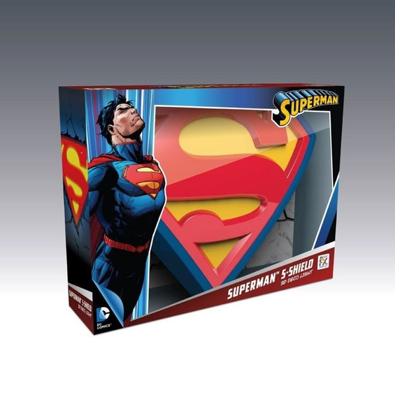 Luminária Dc Comics Logo Superman 3d Light Fx
