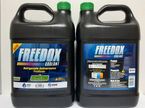 Refrigerantes Base Agua Freedox Coolant Verde Qvar