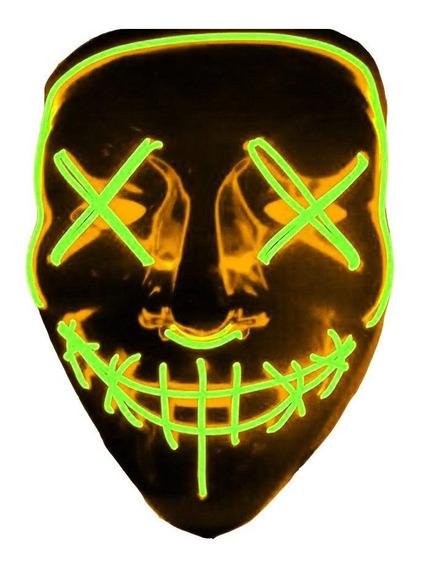 Mascara Led De Neon Varios Colores Disfraz La Purga