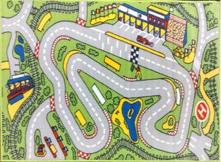 Carpeta Alfombra Infantil Pista De Autos 100 X 140 Mod.boxes