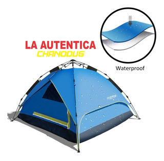 Carpa Automatica 4 Personas Camping Impermeable 2 En 1 Rc