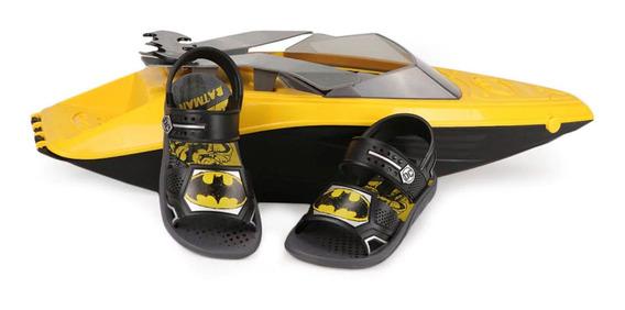 Sandalia Batman Acompanha Brinde Brinquedo 68 Cm Barco Lancha Iate Infantil Grendene Kids Super Novidade