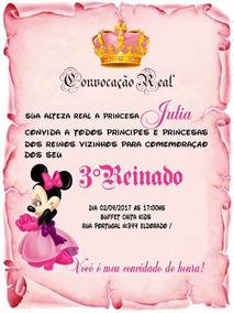 Convite Princesa Minnie (digital) Ou (em Papel)