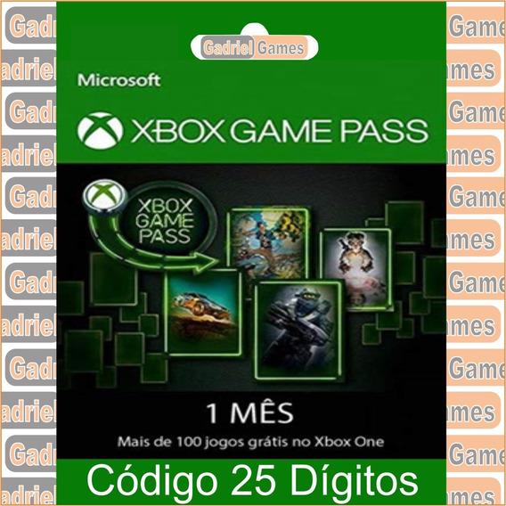 Game Pass 30 Dias Código 25 Dígitos Oficial