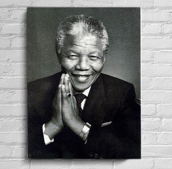 Quadro Nelson Mandela Impressão Em Tela De Pintura 30x40cm