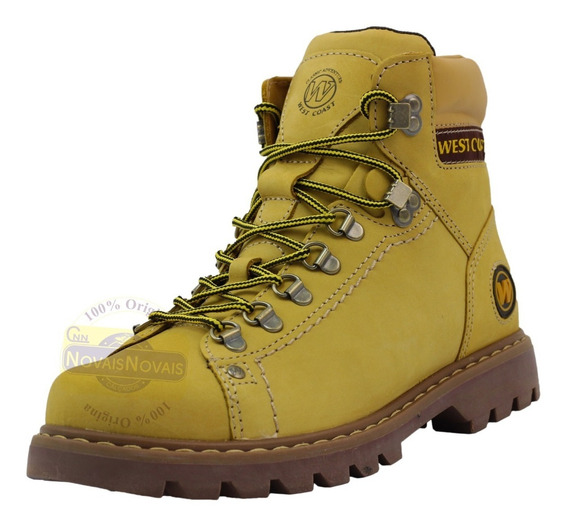 Bota Coturno West Coast 5790 Extreme Camel Couro Original