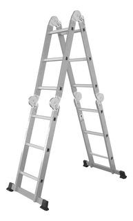Escalera Multifuncion Aluminio /acero 4x3 Articulada 12 Esc