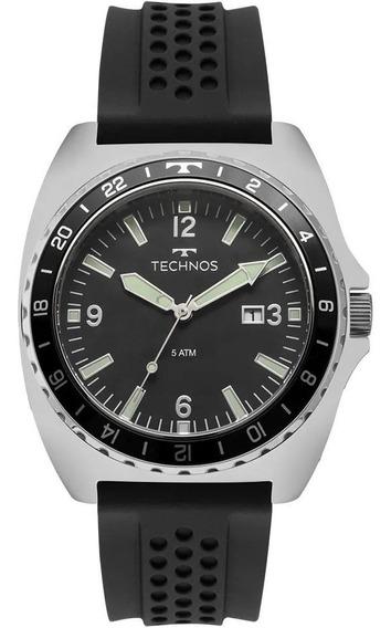 Relógio Masculino Technos 2115mob/8p 44mm Silicone Preto