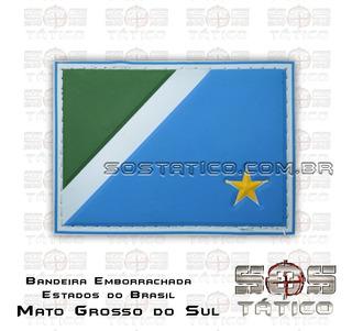 Bandeira De Mato Grosso Do Sul Emborrachada Com Fixadores