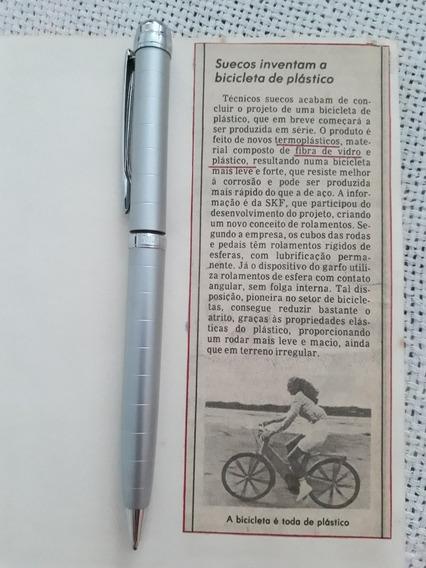 Recorte De Jornal Matéria Bicicleta Triciclo Fibra De Vidro