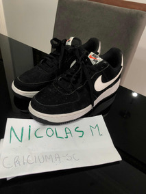 Nike Air Force 1 Preto/ Branco Novo