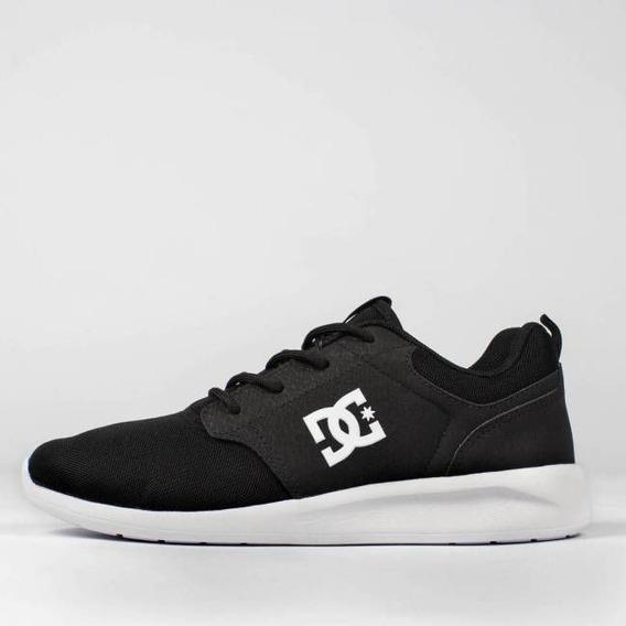 Tênis Dc Shoes Midway Sn Preto/branco Original