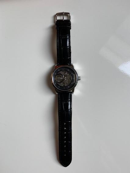 Stuhrling Original 837 02 Delphi Saros Automatico Piel Negra