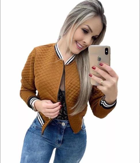 Jaqueta Feminina Bomber Moda Roupa Blusa Social Pomoção