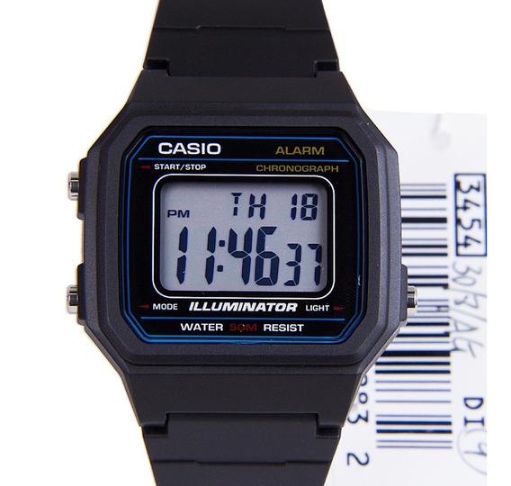 Casio W-217h-1 Relogio Alarm Crono Data Luz Wr50m Retro W217