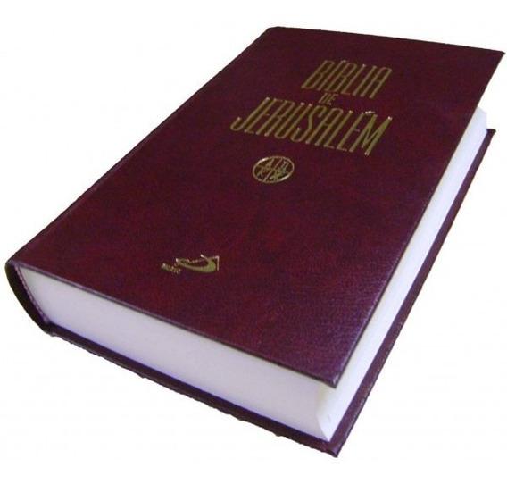 Bíblia De Estudo De Jerusalém Média Original Capa Dura