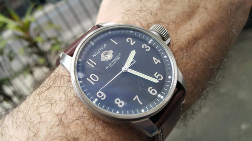 Relógio Nautica Militar A09595 Preto 2 Pulseiras