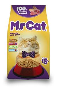 Mr. Cat. Alimento P/gatos Todas Las Razas Y Edades 1.5 Kg.
