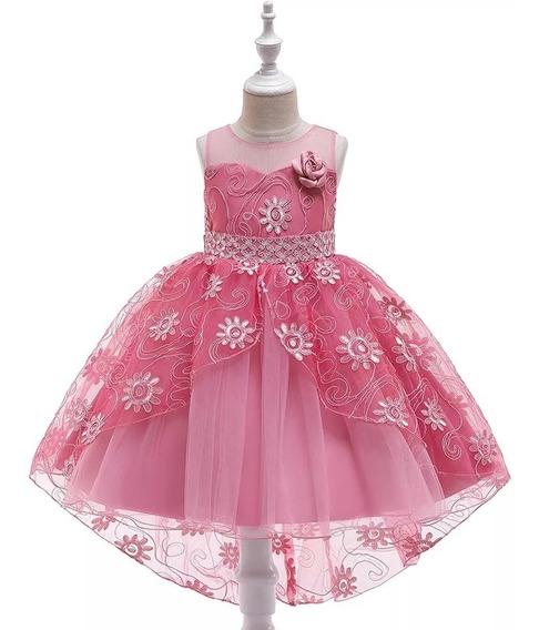 Vestido De Fiesta Para Niña Vestido Niña Rosa Palo De Rosa