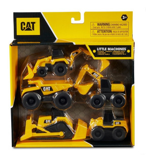 Mini Máquinas De Construcción Cat Vehículos Pack X 5