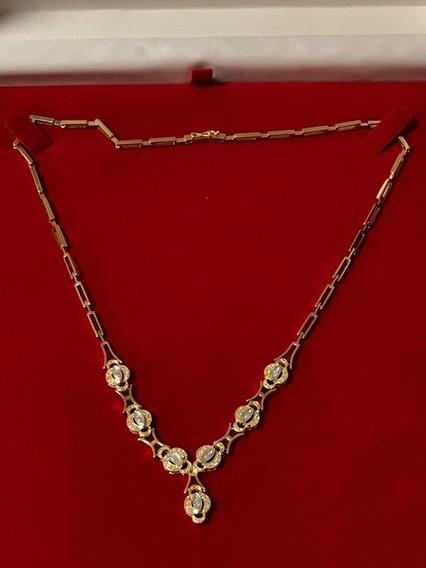 Colar Ouro 18k-amarelo 28.3gr. 47cm.c/diamantes.