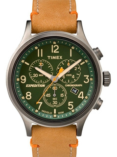 Reloj Hombre Timex Cuero Tw4b0440 Calendario Cronografo
