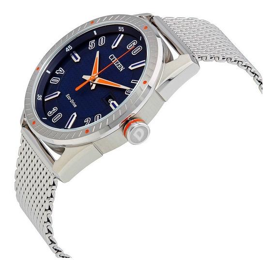 Reloj Hombre Citizen Bm6990-55l Ecodrive Acero Dial Azul