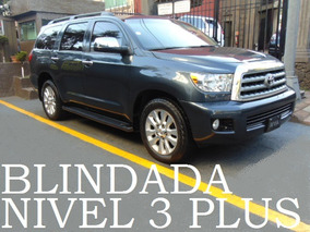 Toyota Sequoia 2010 Blindada Nivel 3 Plus Blindaje Blindados