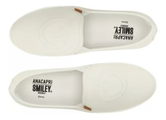 Tênis Slip On Smiley Branco Anacapri