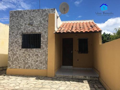 Casa Com 2 Dormitórios À Venda, 65 M² Por R$ 115.000,00 - Carapibus - Conde/pb - Ca0539