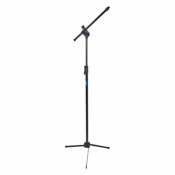 Pedestal Microfone + Cachimbo - Regulagem De Altura Com Mola