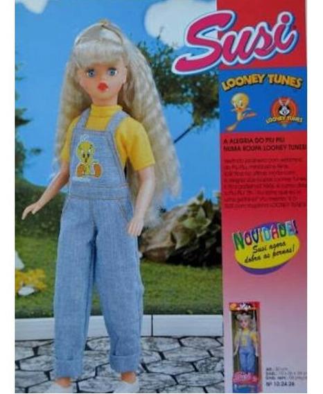 Boneca Susi Estrela 1998 Looney Tunes Piu Piu Macacão Jeans