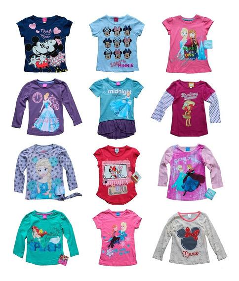 Lote 15 Playeras Niña Disney Princesas Minnie Envio Gratis